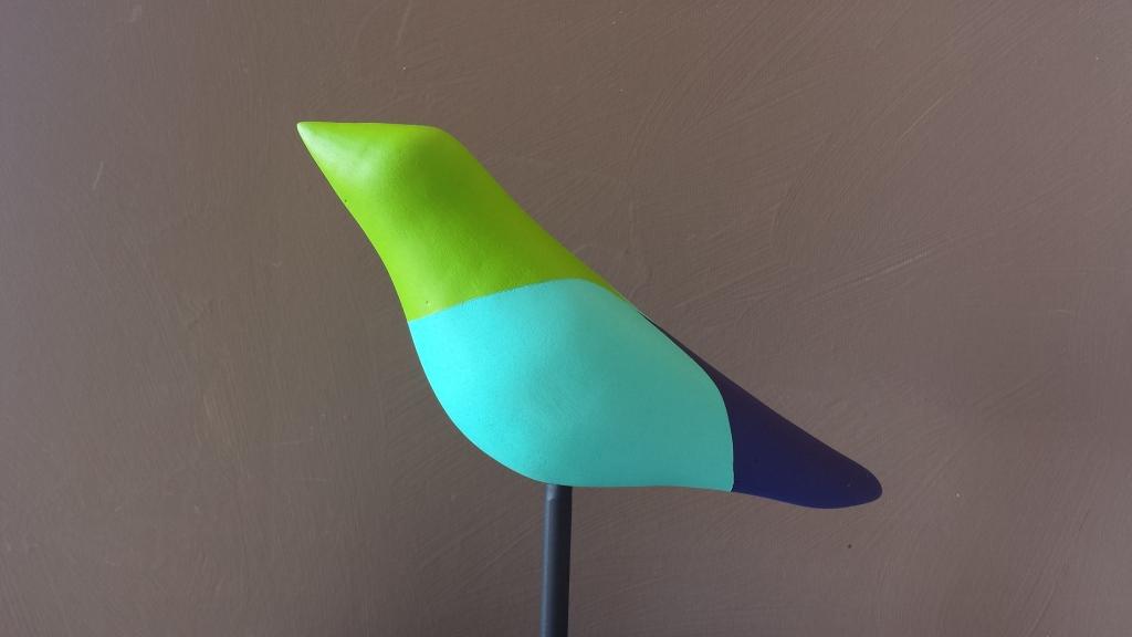 Multicolored, green headed bird