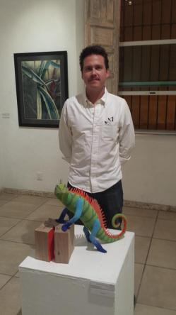 Mimus and Davit. Mimus was awarded first place in the category Scuplture at the Primer Foro Artístico Amateur.