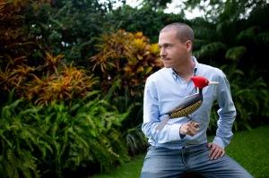 Davit Nava, sustainable art, woodpecker.